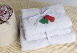 shalla полотенца grey (серый) набор 3шт