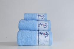 полотенце с печатью anchor mavi (голубой)