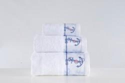 полотенце с печатью anchor beyaz (белый)
