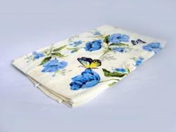 полотенце махровое хлопковое (голубой)