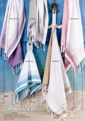 damla mor (фиолетовый) полотенце пляжное