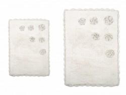 blossoms krem (кремовый) коврик для ванной