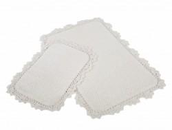 serra ecru (молочный) коврик для ванной