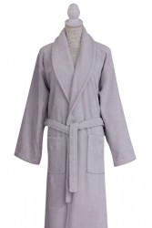 халат c вышивкой роза grey (серый)