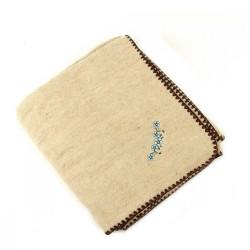 одеяло эко жаккард 50%шерсть, 50%лен