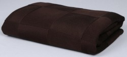 плед вязаный квадрат (шоколад)